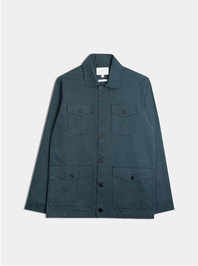 Merchant Blue Coated Cotton Field Jacket