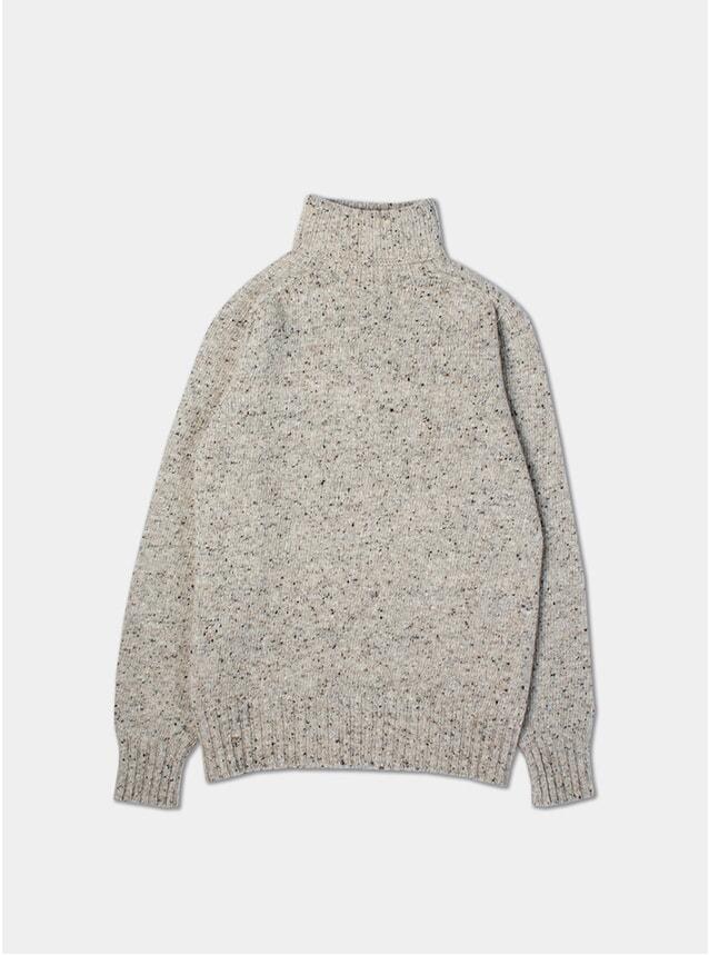 Porridge Merino Wool Donegal Roll Neck