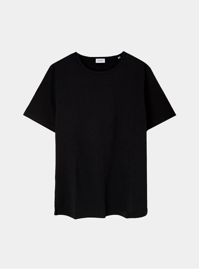 Black Tailored Supima Cotton T Shirt
