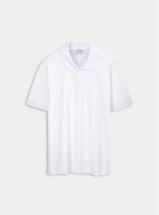 White Organic Polo Shirt