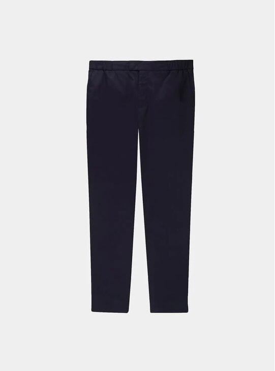 Black Stretch Cotton 24 Trousers