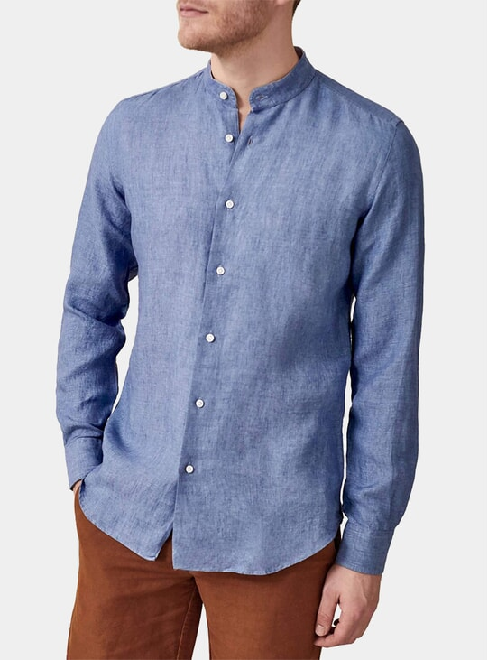 Chambray Blue Versilia Linen Shirt