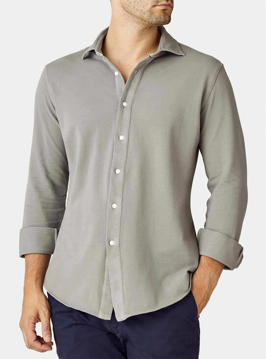 Dove Grey Siena Piqué Shirt