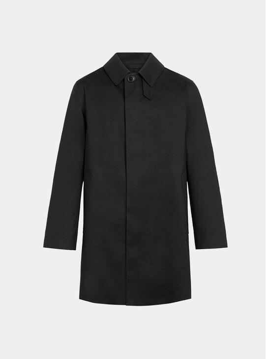 Black Bonded Dunoon Short Coat