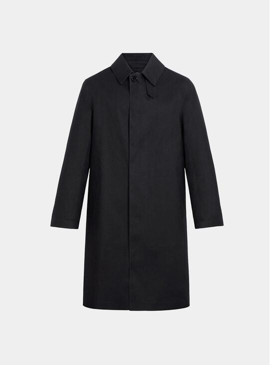 Black Dunkeld Bonded Cotton 3/4 Coat