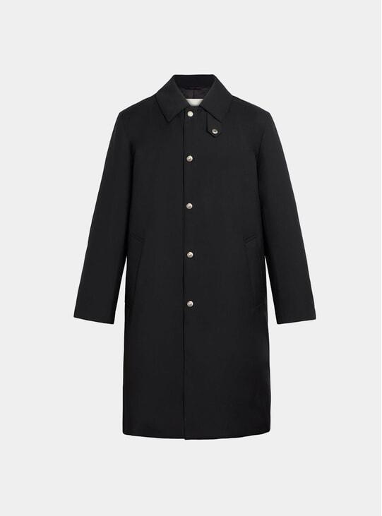 Black Storm System Wool Thindown 3/4 Coat