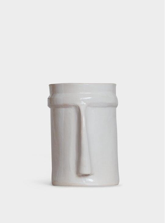 Medium White Nose Vase