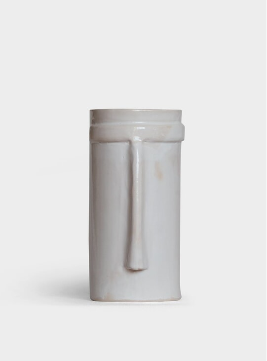 Tall White Nose Vase