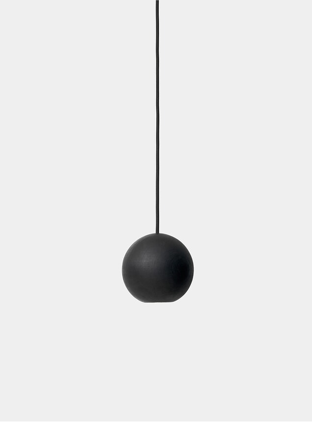 Black Liuku Base Ball Pendant Lamp
