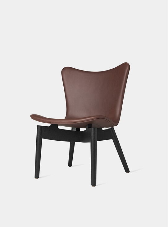Black Stained Oak / Ultra Cognac Shell Lounge Chair