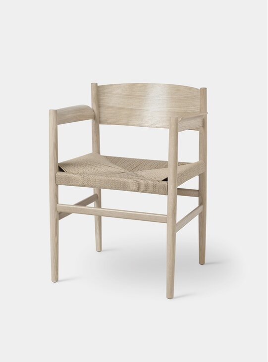 Matt Lacquered Oak / Paper Cord Nestor Chair