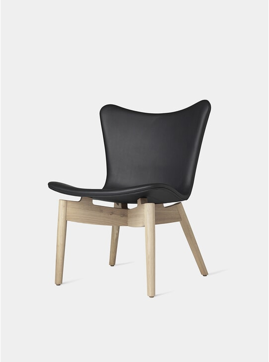 Matt Lacquered Oak / Ultra Black Shell Lounge Chair