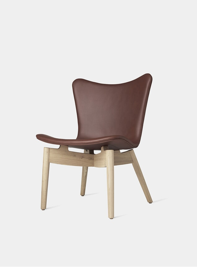 Matt Lacquered Oak / Ultra Cognac Shell Lounge Chair