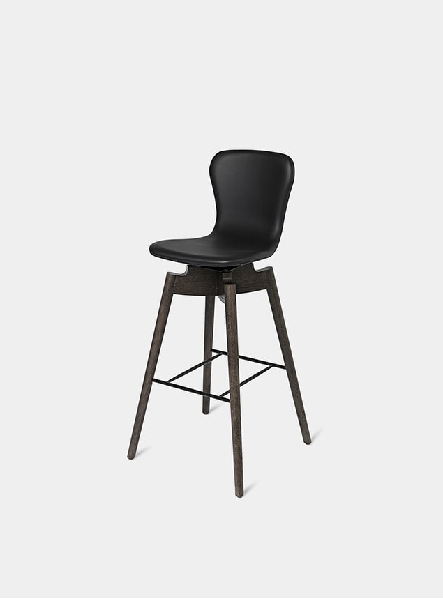 Ultra Black 74cm Shell Bar Stool