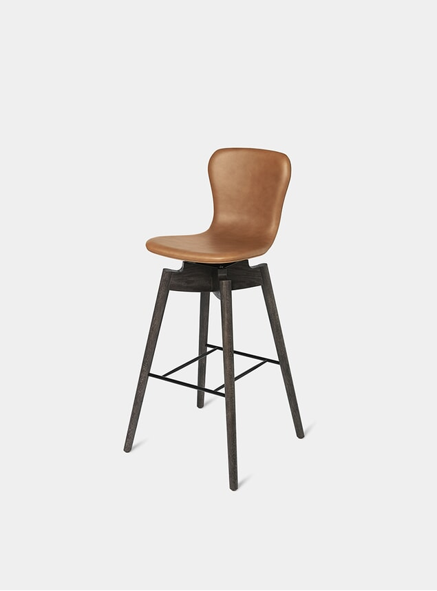 Ultra Brandy 74cm Shell Bar Stool