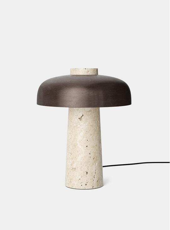 Bronzed Brass Reverse Table Lamp