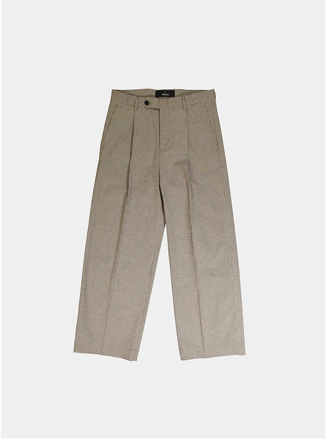 Brown Check Atelier Big Trousers