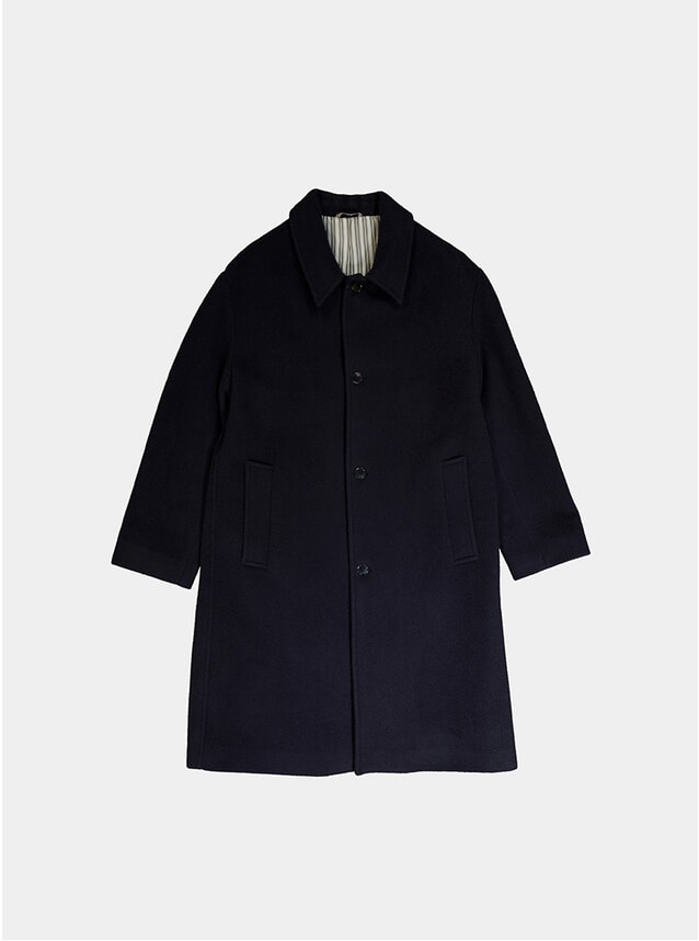Dark Navy Loden Coat
