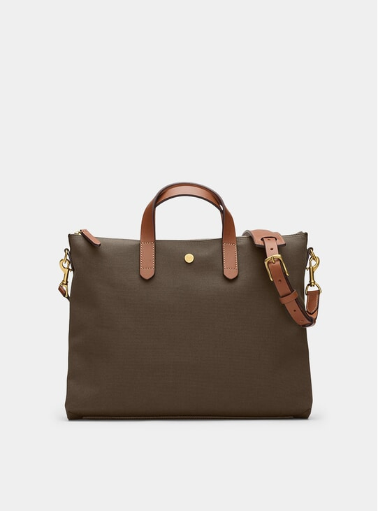 Army / Cuoio M/S Brief Bag