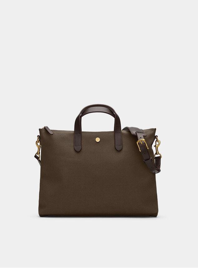 Army / Dark Brown M/S Brief Bag