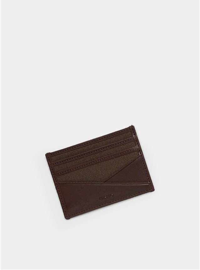 Army / Dark Brown M/S Card Holder
