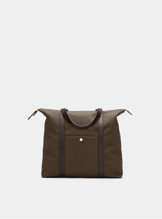 Army / Dark Brown M/S Shuttle Bag
