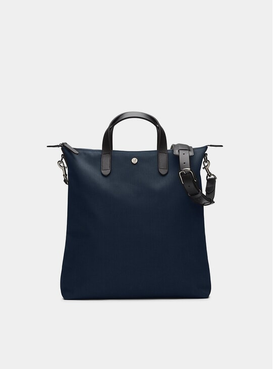 Deep Blue / Black M/S Shopper Bag