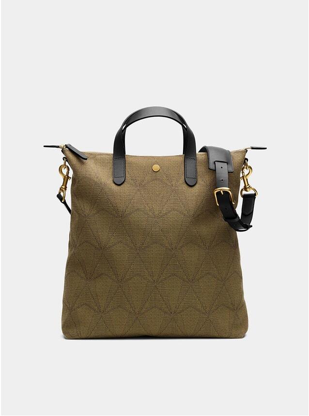 Diamond Chevron / Black M/S Shopper Bag