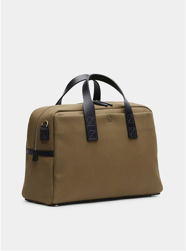 Khaki / Black M/S Aviator Duffle Bag