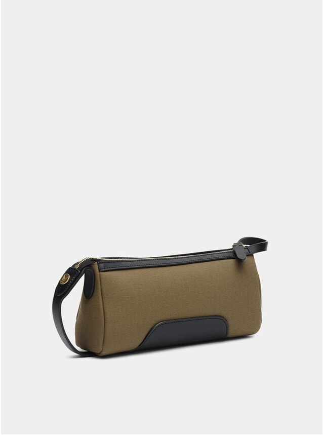 Khaki / Black M/S Prime Wash Bag