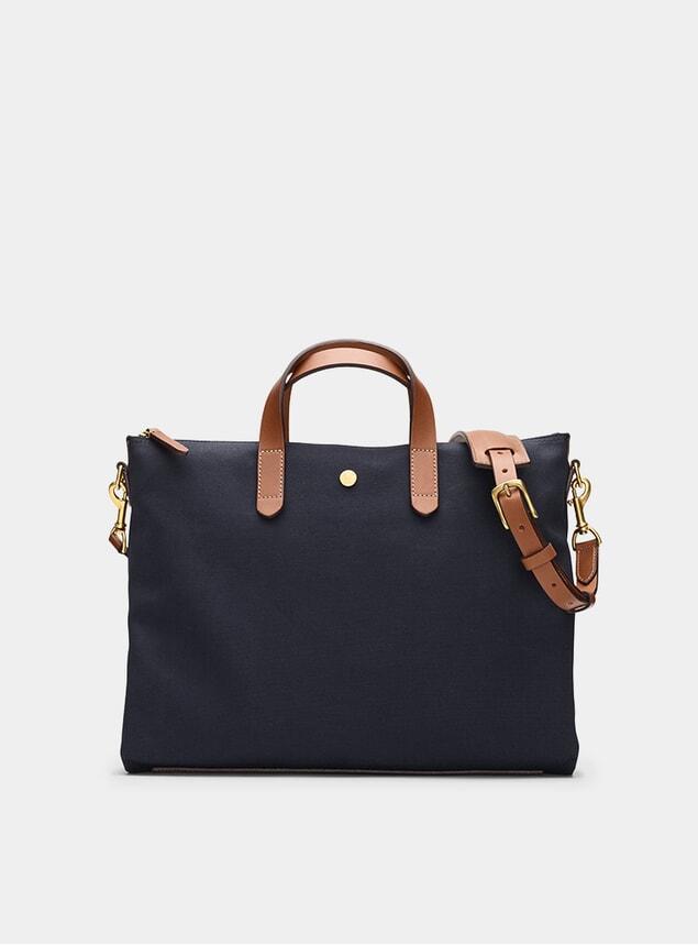 Midnight Blue / Cuoio M/S Brief Bag