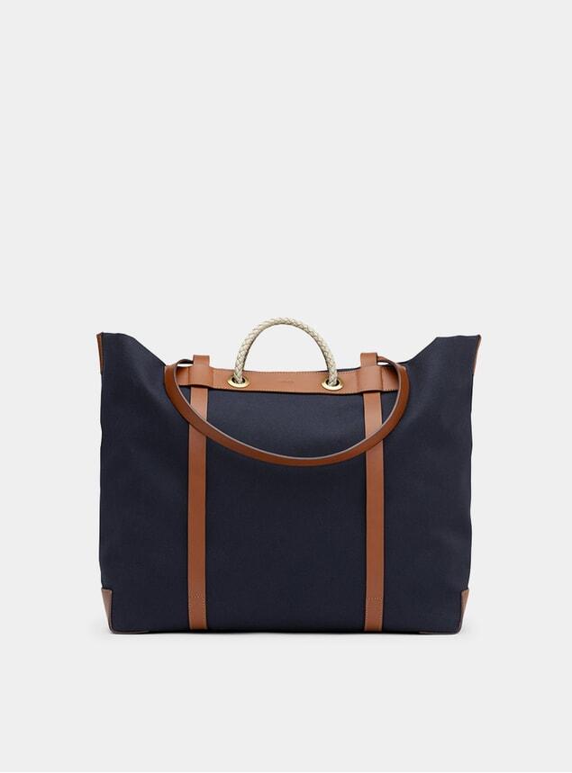 Midnight Blue / Cuoio M/S Seaside Bag