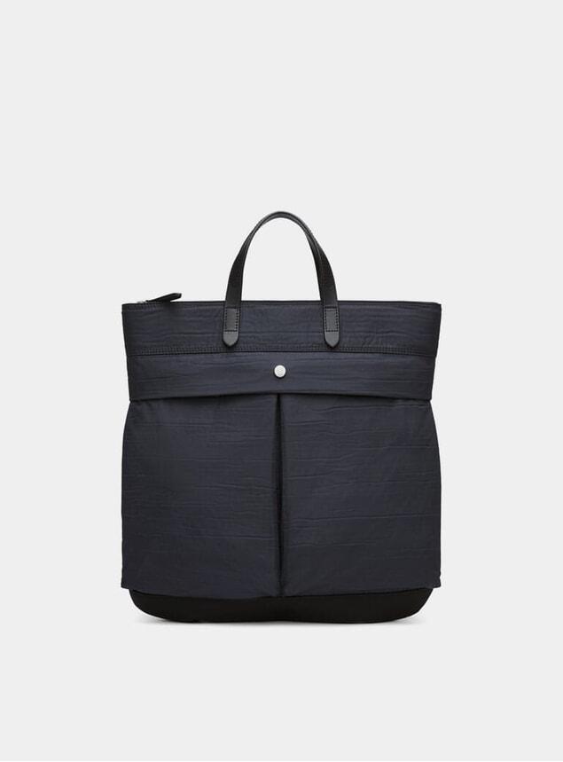 Moonlight Blue / Black Cotton Helmet Bag