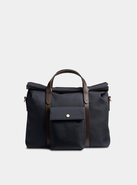 Navy / Dark Brown M/S Soft Work Bag