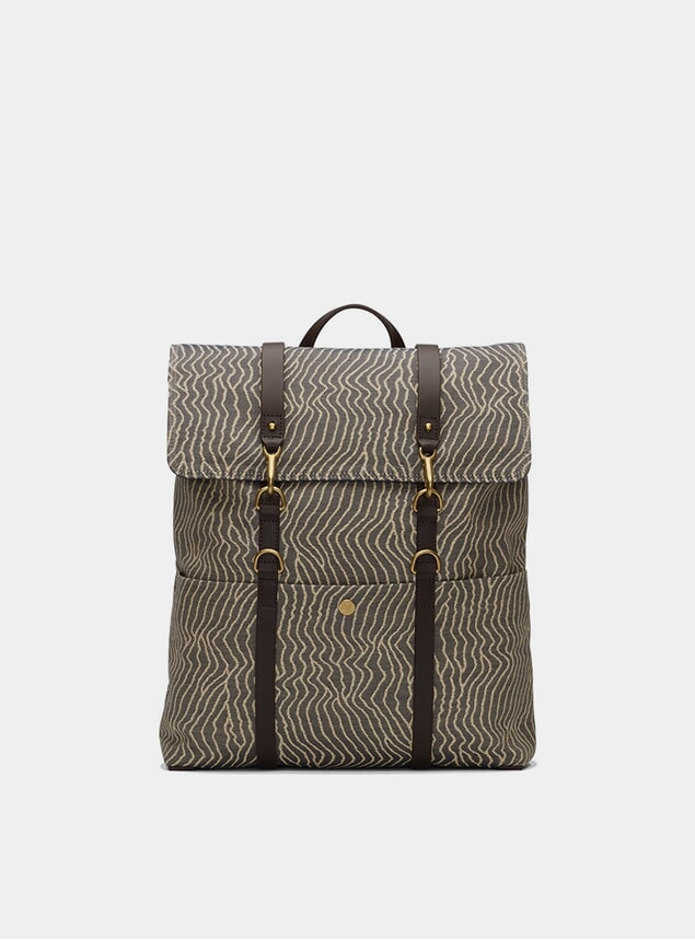 Sand Waves / Dark Brown M/S Backpack