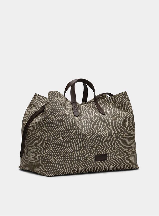 Sand Waves / Dark Brown M/S Haven Bag