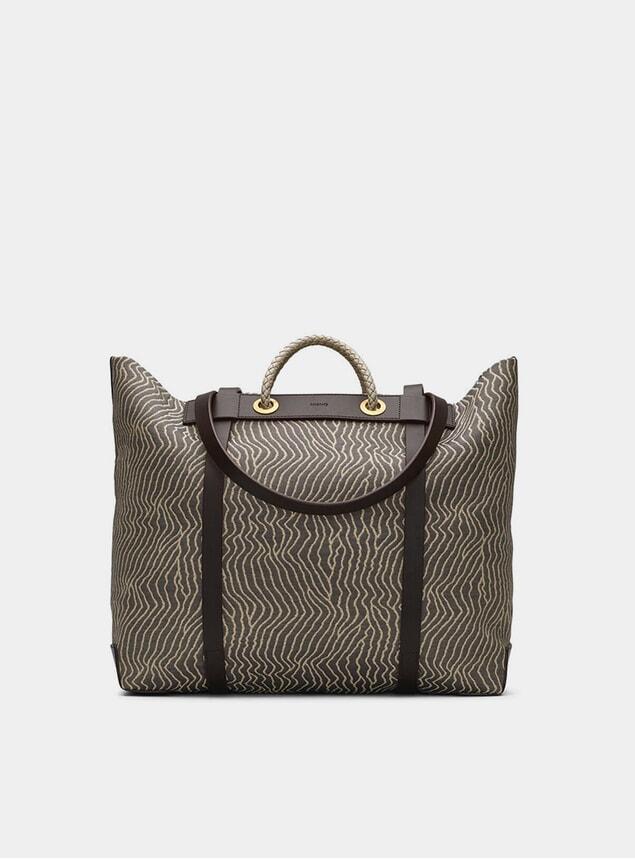 Sand Waves / Dark Brown M/S Seaside Bag