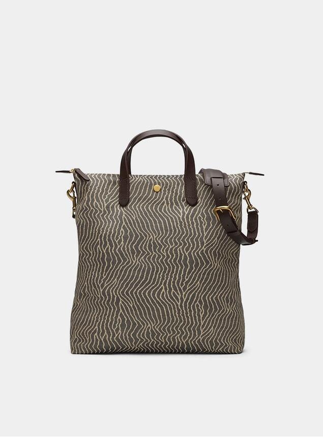 Sand Waves / Dark Brown Shuttle Bag