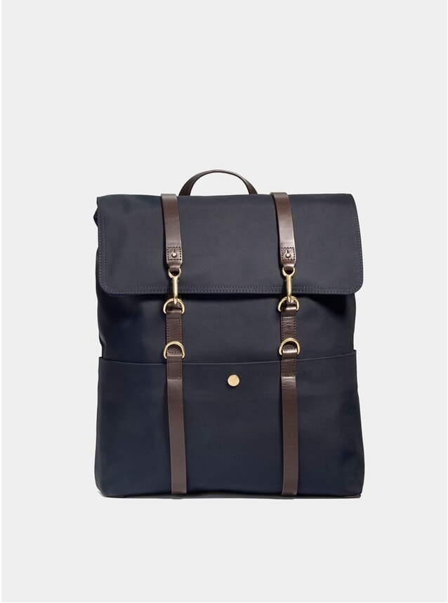 Navy / Dark Brown M/S Backpack