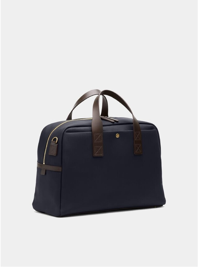 Navy / Dark Brown M/S Aviator Duffle Bag
