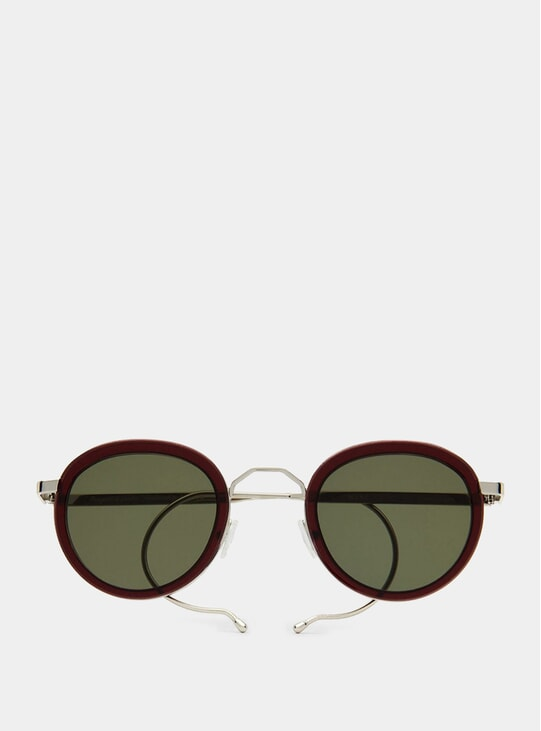 Burgundy London Fields Sunglasses