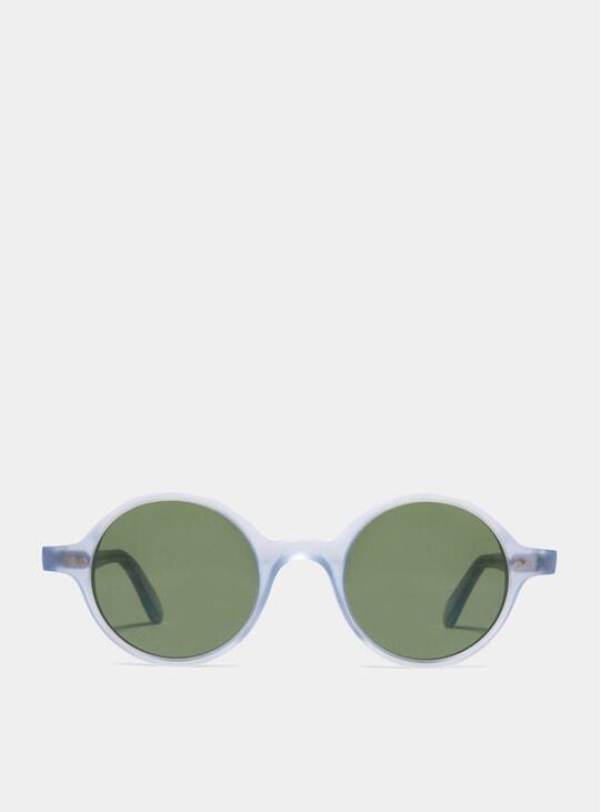 Matt Azure / Green Løkka Sunglasses