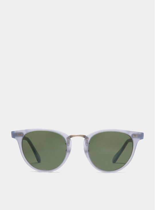 Matt Azure / Green Monti Sunglasses