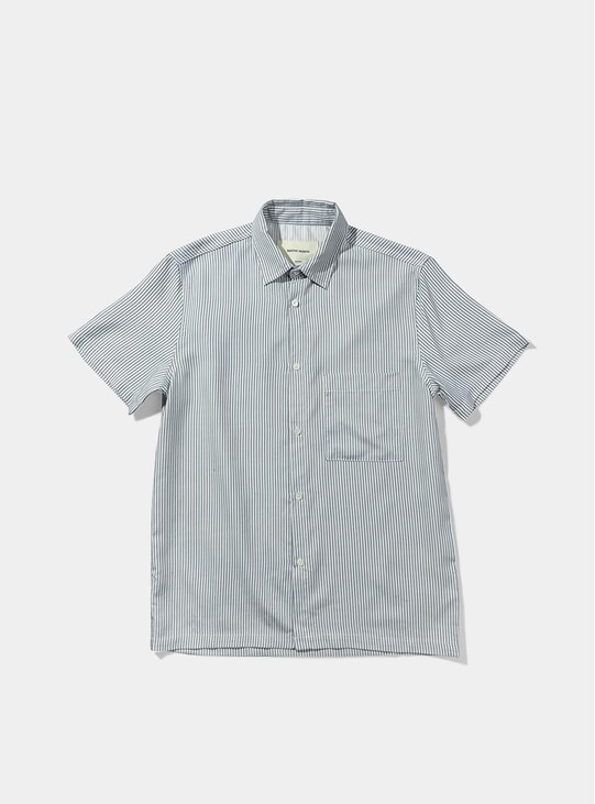 Blue Striped Bureau Shirt