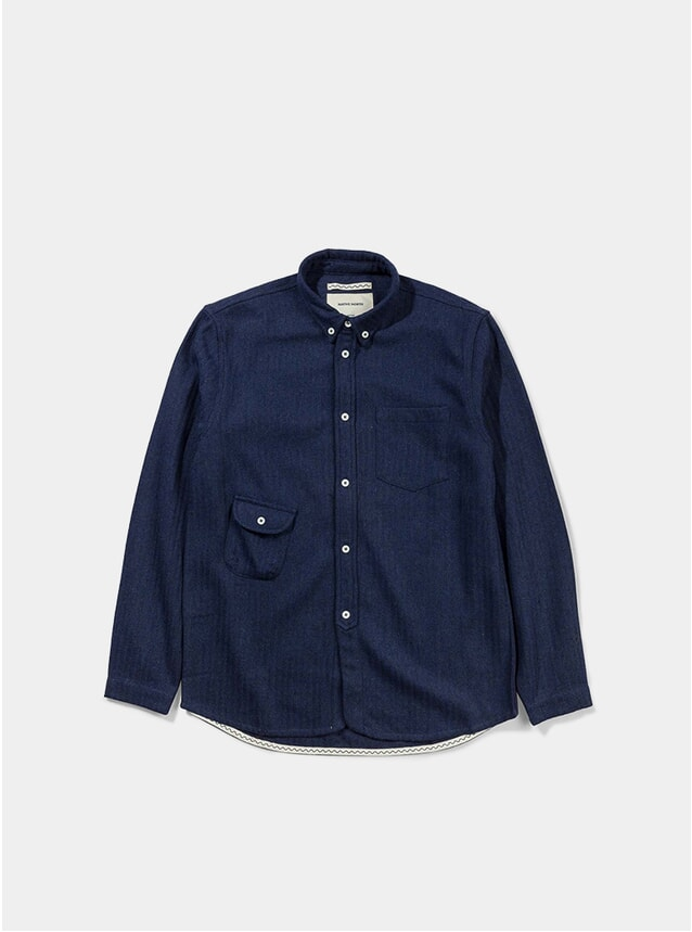 Blue Wool Workers Shirt