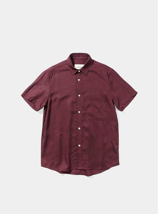 Bordeaux Japanese Tencel Shirt