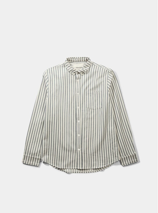 White / Indigo Mads Double Indigo Shirt