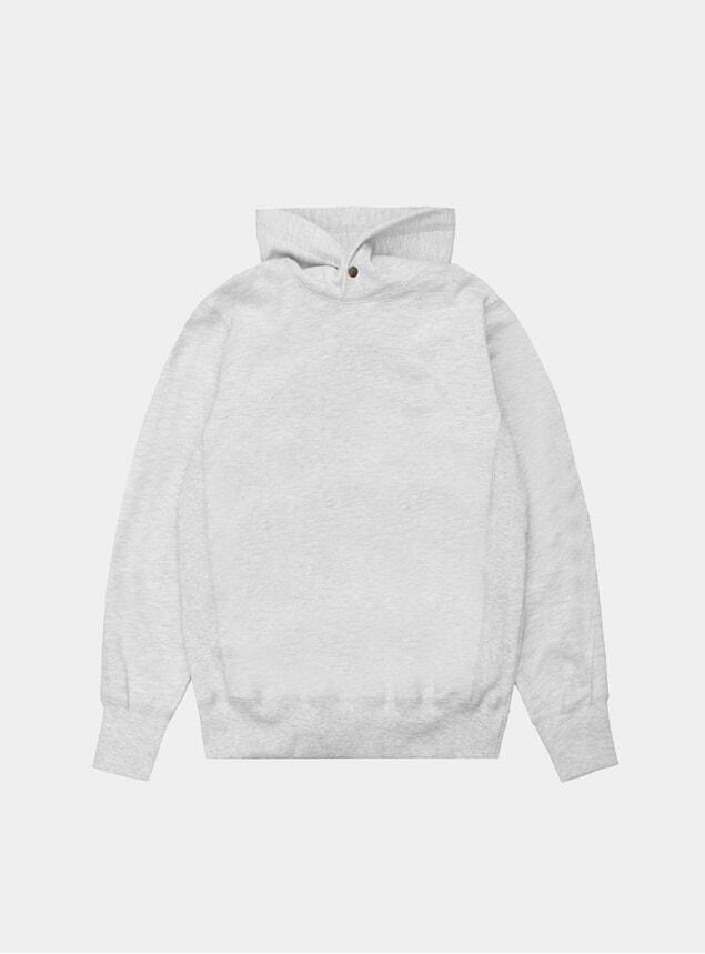 Grey Melange Click Hoodie