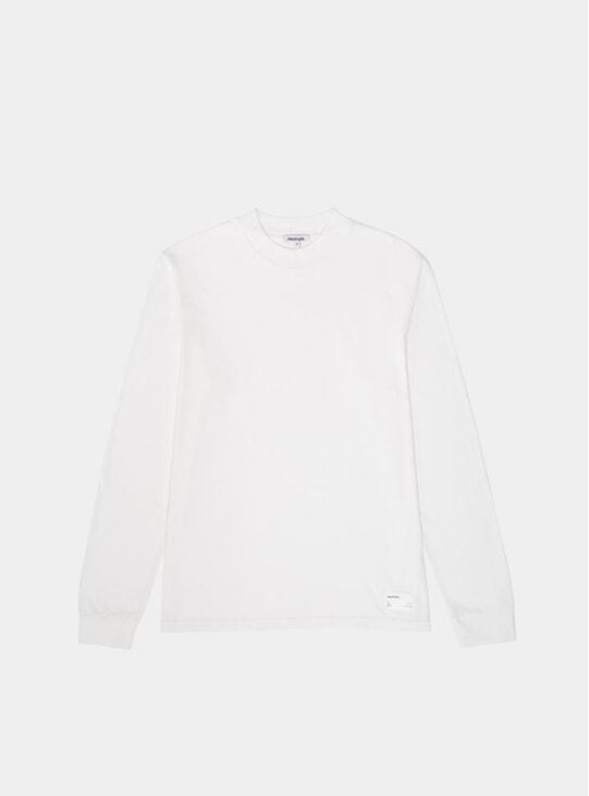 Star White Mockneck LS T Shirt