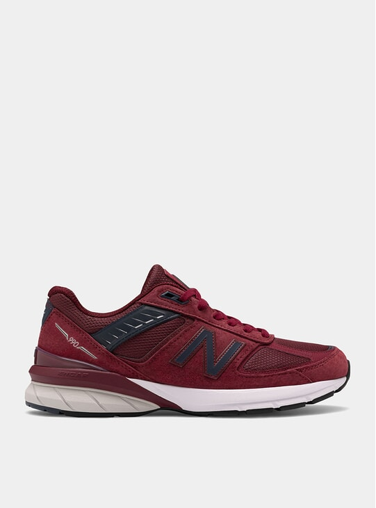 Burgundy / Navy 990v5 Sneakers